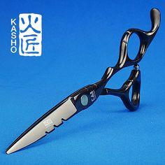 일본 440c 가쇼 가위 미용 이발소 용품 titanium 전문 미용 가위 절단 머리