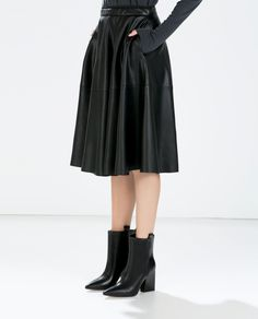Image 4 of HIGH-HEELED LEATHER COWBOY BOOTIE from Zara  $119.00USD Size 6 1/2 or 6.5