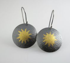 KeumBoo Earrings Sun by StudioNaftali on Etsy, $95.00