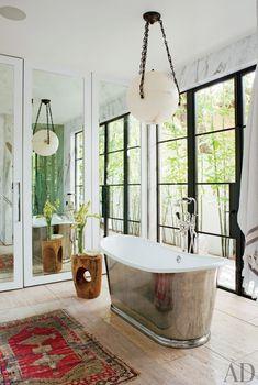 Rustic Style - Mountain Decor - Waterworks Bathroom - Plumbing Fixtures - Margaux Tub