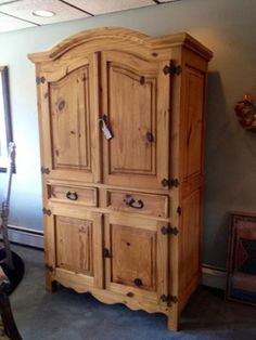 Exceptionnel Mexican Pine Armoire.  Mexi Cali Boho