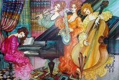 Canal~Art  « Quatuor féminin » Tableau de l'artiste Abraham Saakian