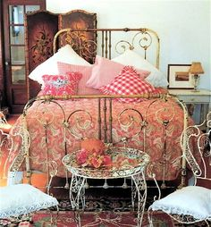 "Victorian Bed done for ""Shabby Chic""."