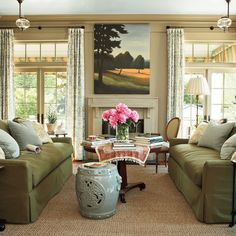 Lovely Sage Green sofa Decorating Ideas
