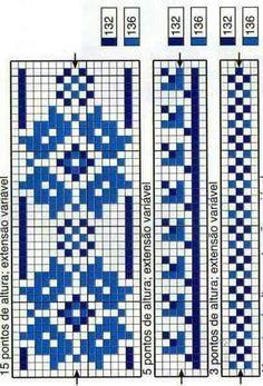 Tapestry Crochet Patterns, Loom Patterns, Embroidery Patterns, Cross Stitch Borders, Cross Stitch Patterns, Knitting Charts, Knitting Patterns, Fair Isle Chart, Swedish Weaving