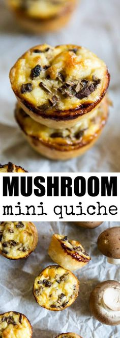 For mushroom lovers, these Mini Mushroom Quiche are your new favorite brunch item! Make ahead/freezer friendly and so easy thanks to store-bought pie crust.