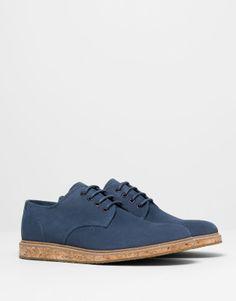 Pull&Bear - homem - sapatos homem - sapato sola de cortiça - azul marinho - 13405312-V2014