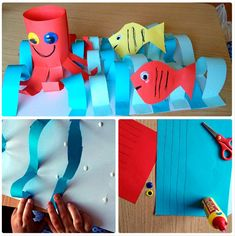 Sea Creatures, Techno, Crafts For Kids, Outdoor Decor, Diy, Homeschooling, Crafts, Bricolage, Animaux