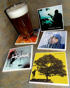 JACK JOHNSON Ceramic Tile Album Covers Coasters