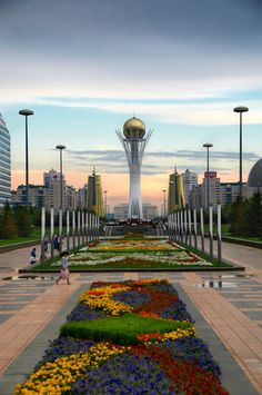 Astana, Kazakhstan.  Baiterek, a 100-meter-tall tower that has drawn comparisons to a giant lollipop.  Astana, has been the capital of Kazakhstan since 1997, and is the country's second largest city after Almaty, the former capital.