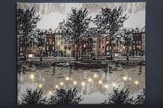Holidays And Events, Home And Garden, Christmas Tree, Snow, Canvas, Holiday Decor, Crafts, Outdoor, Inspiration