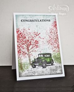 Guy Greetings for an engagement - Stampin' Up Artisan blog hop