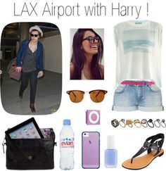 """""""LAX Airport with Harry"""" by d-foreverloves ❤ liked on Polyvore"""