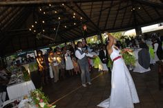 more action at the Olive Lapa with the bride throwing her bouquet to the single ladies attending her wedding