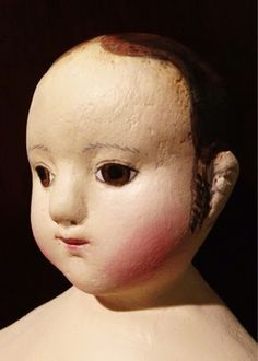 Northdixie Designs: Why I Bought an Izannah Walker Doll Kit - head from molds owned by The Little Hamptons, Painting by Dixie Redmond.