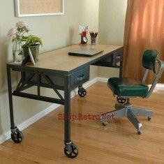 French Industrial Desk32