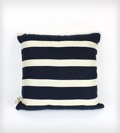 Nautical Pillow Cover - Navy & Beige | Home Decor | Lady Alamo | Scoutmob Shoppe | Product Detail