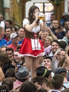 Dresses for Women Oktoberfest Outfit, Oktoberfest Party, Munich Oktoberfest, German Oktoberfest, Octoberfest Girls, Drindl Dress, Beer Maid, Chica Punk, German Costume