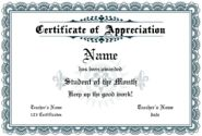Free Formal Certificate Template - make an Employee of the Month Award, Certificate of Excellence or Appreciation