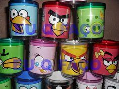 EU Q FAÇO - Brindes e Lembrancinhas: Caneca de Acrílico Angry Birds 1