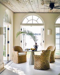 Palm Beach House by Jayne Design Studio | 1stDibs Condo Interior, Decor Interior Design, Interior Decorating, Beach Dining Room, Dining Room Design, Dining Rooms, Contemporary Modern Patio, Mid-century Modern, Palm Beach Decor