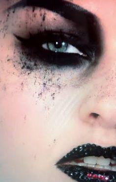 Dark shadow fall out, smoky eye and dark crystal lips
