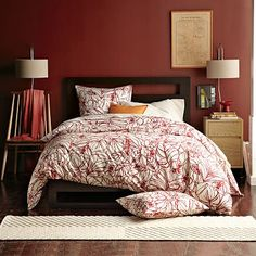 Though a bit cliche, I would like to use this color for a Living Room accent wall - West Elm Benjamin Moore paint in Brick