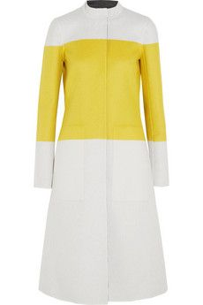 Narciso Rodriguez Reversible color-block wool coat | NET-A-PORTER