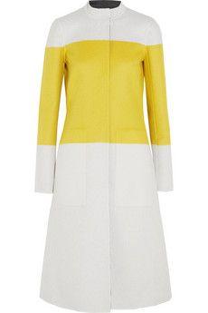 Narciso Rodriguez Reversible color-block wool coat | NET-A-PORTER