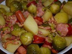 Choux de Bruxelles, saucisses et pomme de terre au Cookeo