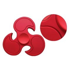 MATEMINCO Red Hand Spinner Nano Bearing Outdoor Games Toy Pocket Decompressive Toy