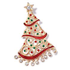 Stick to tradition or start a new one! Avon's Collectible Christmas Pin for 2016 is a goldtone open work filigree look Christmas tree embellished with green and red stones. Regularly $19.99, shop Avon Fashion online at http://eseagren.avonrepresentative.com