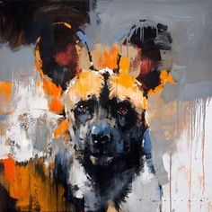 Peter Pharoah Contemporary South African Fine Artist (hyena are feliform carnivorans - they are NOT DOGS - they are related more to cats, than to dogs). Wildlife Paintings, Wildlife Art, Animal Paintings, Animal Drawings, African Art Paintings, African Artwork, South African Artists, Abstract Animals, Wow Art