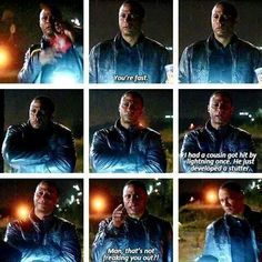 Diggle reacts to The Flash being fast