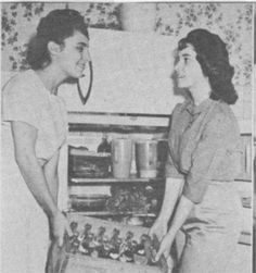 1950s American Bandstand Regulars Barb Levick on left and Arlene Sullivan on the right.