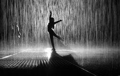 Dancing in the rain - It's taken in the Rain Room designed by Random International.