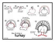Thanksgiving is just around the corner, do your kids know how to draw a Turkey? It's super easy!