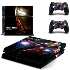 Marvel Iron-man PS4 Skin Sticker Decal For Sony PS4 PlayStation 4 Console and 2 Controllers Stickers #Affiliate