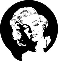 Marylin Monroe Vector Portrait by ~Vectorportal on deviantART | This image first pinned to Marilyn Monroe Art board, here: http://pinterest.com/fairbanksgrafix/marilyn-monroe-art/ ||