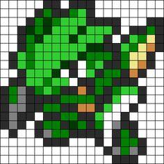 Scyther Perler Bead Pattern / Bead Sprite