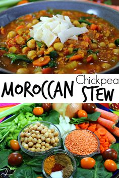 "This quick vegetarian dinner recipe is full of bold and unique flavors- perfect for a ""Meatless Monday""! Make this vegetarian by using vegetable stock with the lentils and chickpeas. Go a step further (Try Love Gluten Free) Soup Recipes, Whole Food Recipes, Dinner Recipes, Cooking Recipes, Budget Recipes, Casserole Recipes, Dinner Ideas, Family Recipes, Casserole Dishes"