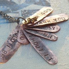 An artist Prayer Word Tag Charm Necklace by TheBohemianGypsy, $54.00