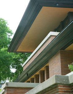 Detail shot - Frank Lloyd Wright's Robie House at the University of Chicago
