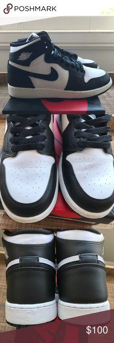 newest c49b0 11338 Air Jordan 1 Retro High OG Black White sz 7y (9wm) Used 2014