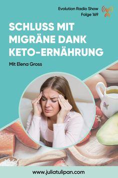 Migräne ist nicht nur einfach Kopfschmerz. Migräne ist eine schwerwiegende neurologische Erkrankung mit dramatischen Folgen für die Betroffenen. Mein Interviewgast Elena Gross leidet nicht nur selbst seit der Pubertät an Migräne, sondern ist auch direkt in der Migräne Forschung involviert. Wieso eine ketogene Ernährung bei Migräne helfen kann, erfährst du hier! Interview, Low Carb, Science, Paleo Food, Research, First Aid, Simple