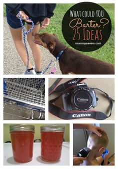 Bartering Ideas - Don't spend money!  Swap goods and services.  Here are 25 real-life examples from moms who have done it. #bartering #frugalliving