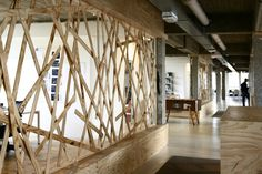Plywood divider-wall