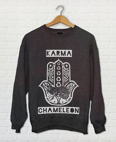 Karma Karma Karma Karma Karma Chameleon... Stay cozy and pay homage to one of the greatest bands of the 80s !  ☆☆☆☆☆☆☆☆☆☆☆☆☆☆☆☆☆☆☆☆☆☆☆☆☆☆☆☆☆☆☆☆☆☆☆☆  Each Clarafornia Co. design is hand-drawn, and each shirt hand screen-printed with ♥ in my studio, located in beautiful San Diego, CA ! Each shirt is crafted from high quality rayon + modal fabric blends and printed on with eco-friendly water based inks - so not only are they incredibly soft, but made to last as well ! Wear it once and itll…