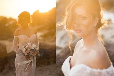 Photographing the Bride | Outdoor Beach Golden Hour Bridal Portraits
