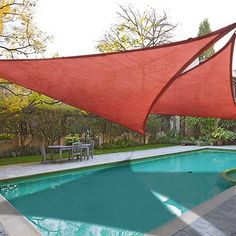 A+ Yescom 16.5 Ft. Triangle Sun Shade Sail Outdoor Patio Canopy Cover (Set of 2), Red